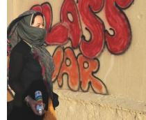 Sprayerin in Afghanistan