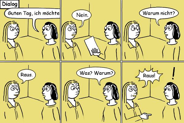 Comic: Besuch in der Aisländerbehörde