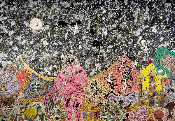 Niki de Saint Phalle: Pink nude in landscape