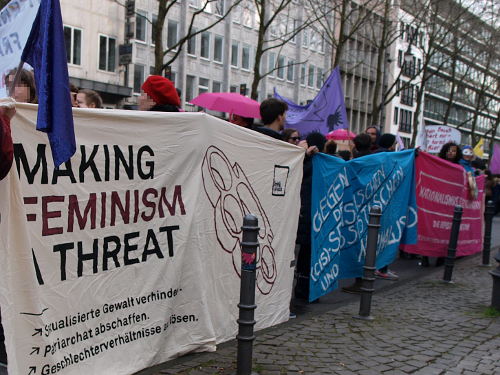 Demonstration Reclaim Feminism in Köln