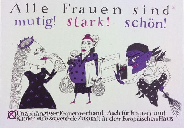 Wahlplakat für den Unabhängigen Frauenverband, 1990