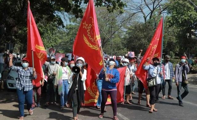 Gewerkschaft der Bekleidungsarbeiter_innen in Myanmar