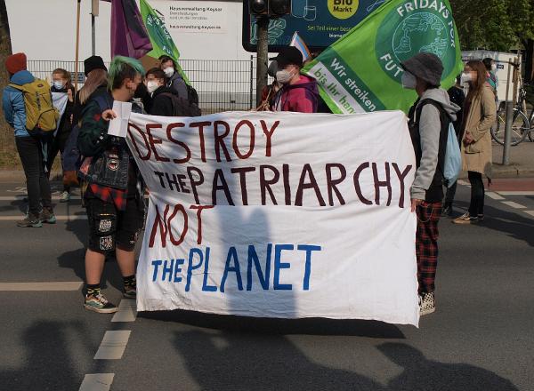 Fridays for Future während der Demonstration